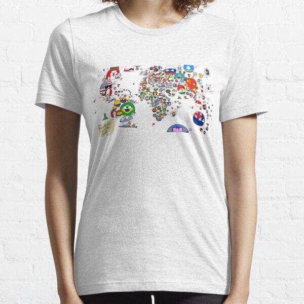 Polandball Countryball World Map Essential T-Shirt