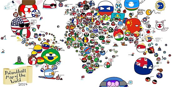Polandball countryball world map posters by poland ball redbubble polandball countryball world map by poland ball gumiabroncs Choice Image