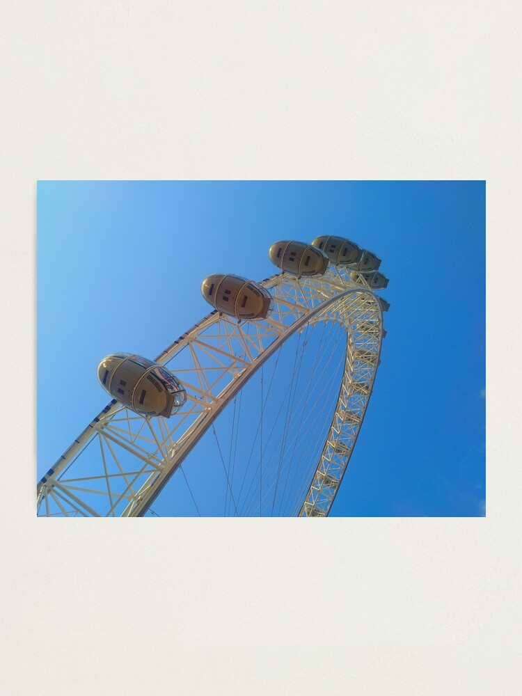 Alternate view of The London Eye Photographic Print