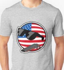 Muricaball (USAball) With Gun - Polandball's Countryballs Unisex T-Shirt