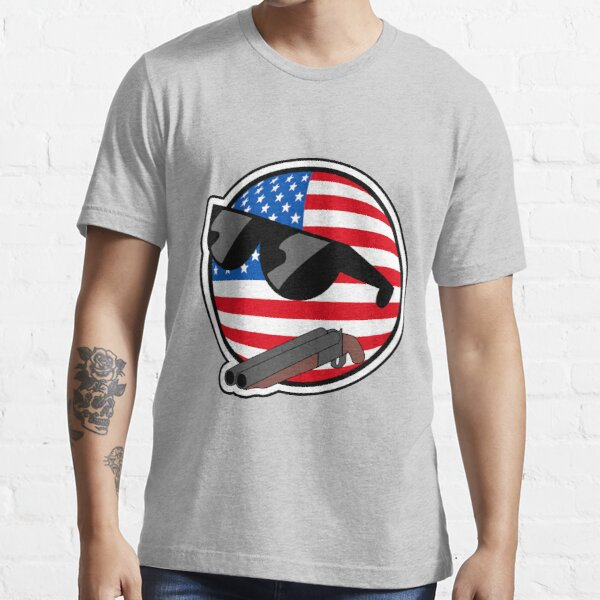 Muricaball (USAball) With Gun - Polandball's Countryballs Essential T-Shirt