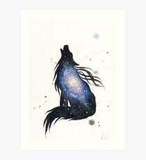 Milky Way Wolf Art Print