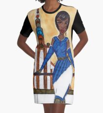 The Sophisticated Adventurer Graphic T-Shirt Dress