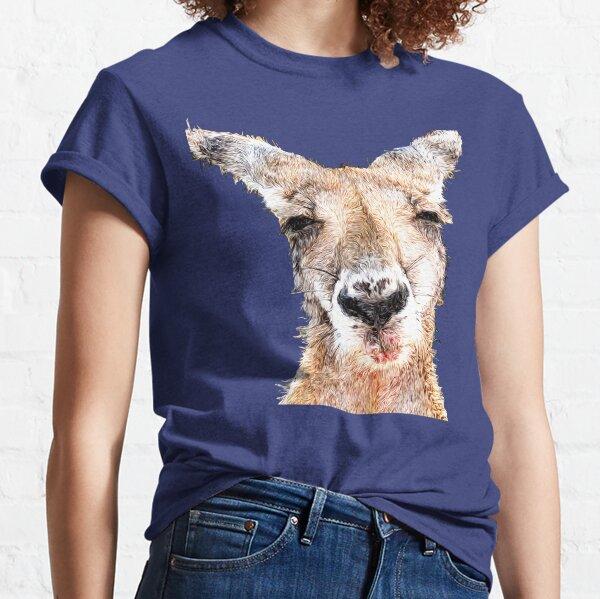Skippy The Abstract Bush Kangaroo Classic T-Shirt