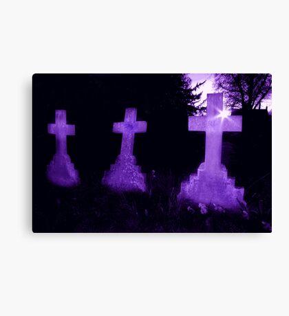 Purple Crosses Canvas Print