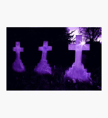 Purple Crosses Photographic Print