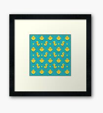 Chicks and Ducklings Framed Print
