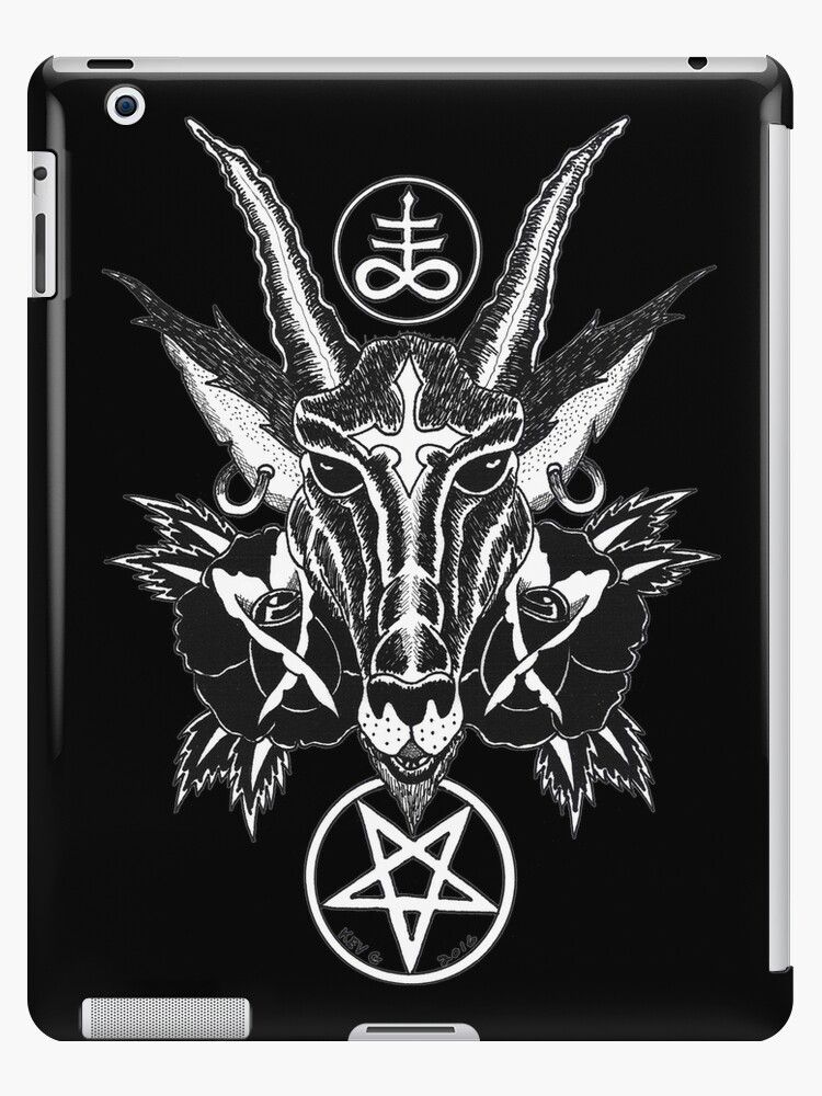 Baphoment And Satanic Symbols Art By Kev G Ipad Cases Skins By