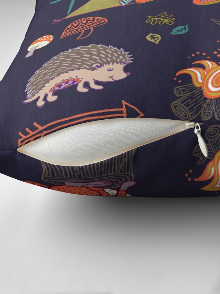 Alternate view of Woodland Animals Campout Floor Pillow