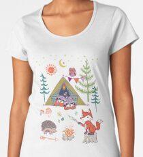 Woodland Animals Campout Women's Premium T-Shirt