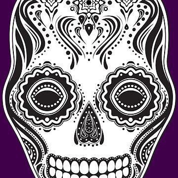 Dia de los Muertos That Girl Skull by JaZilla