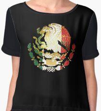 Golden Mexican Coat Of Arms Women's Chiffon Top