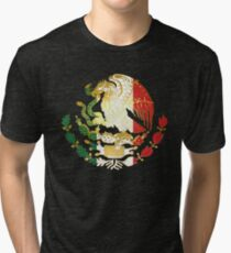 Golden Mexican Coat Of Arms Tri-blend T-Shirt