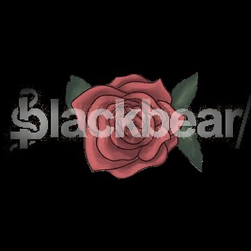 Blackbear Logo with Faded Rose by emathechickenlo