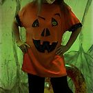 Halloween Girl in Ghoulish Green by evon ski