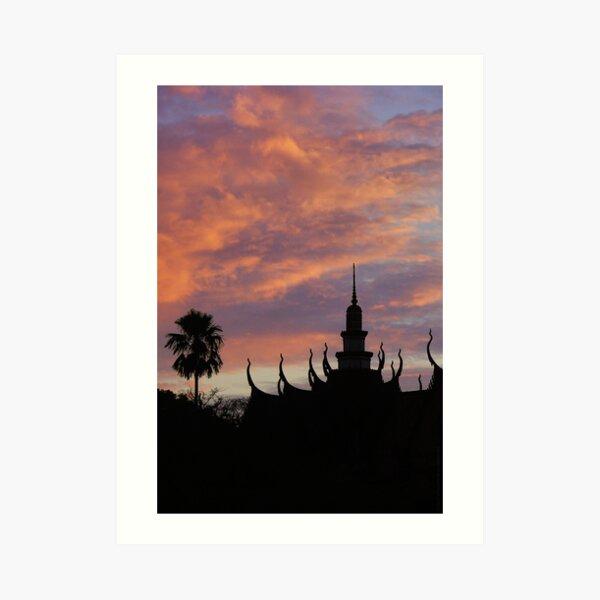 Temple in sunset - Cambodia Impression artistique