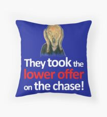 The Scream is shocked watching the Chase. Throw Pillow