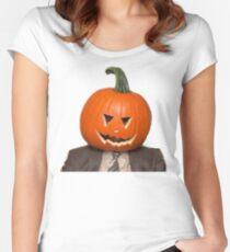 Halloween Dwight  Women's Fitted Scoop T-Shirt