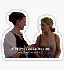 Carrie and Charlotte drama Sticker