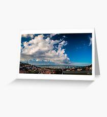 The Barcolana regatta in the gulf of Trieste Greeting Card