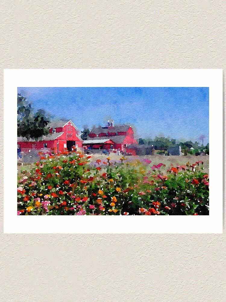 Alternate view of On the farm... Art Print