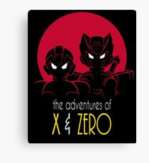 The Adventures of X & Zero Canvas Print