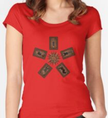 Art deco Dollhouse Women's Fitted Scoop T-Shirt