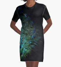 Peacock Feather Graphic T-Shirt Dress