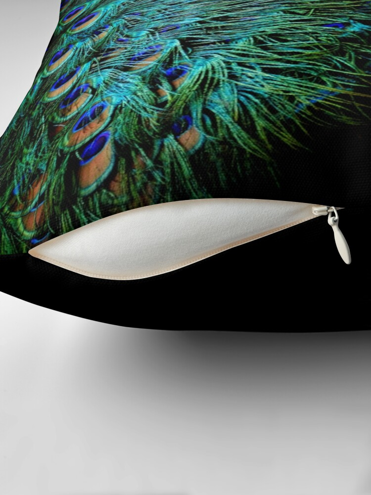 Alternate view of Peacock Feather Throw Pillow