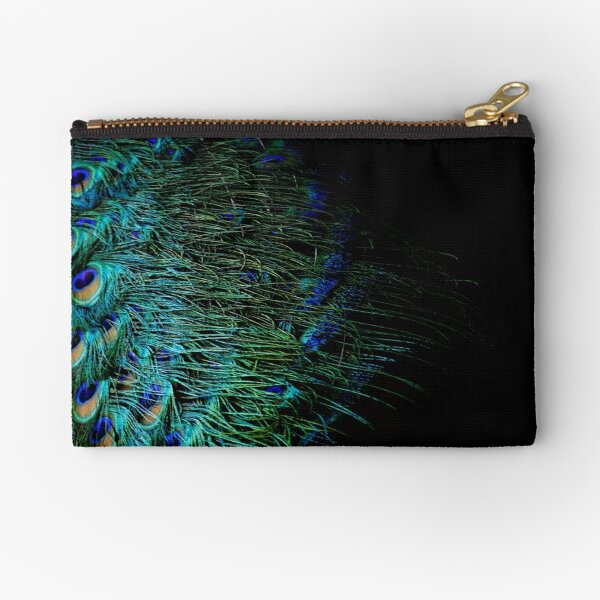 Peacock Feather Zipper Pouch