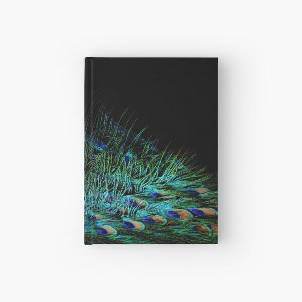 Peacock Feather Hardcover Journal