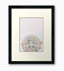 Golden Ganesh 2 Framed Print