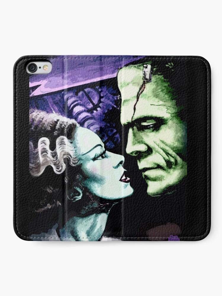 Alternate view of Bride & Frankie Monsters in Love iPhone Wallet