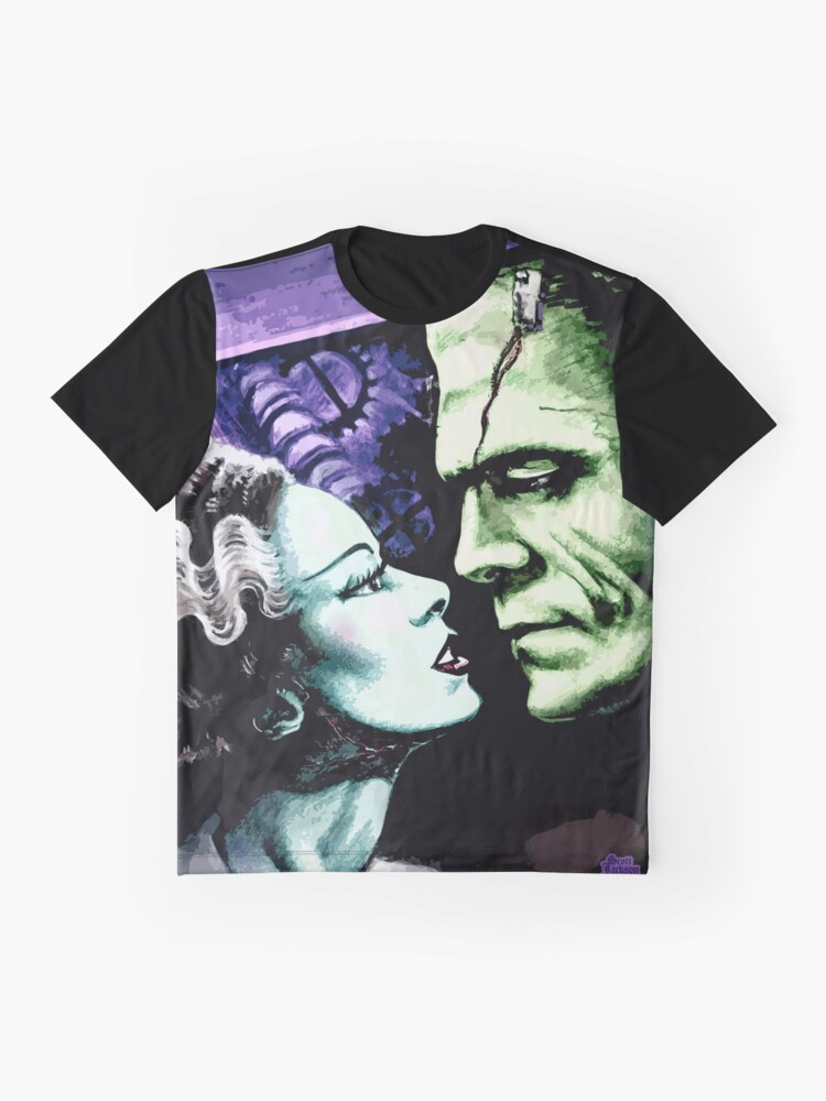 Alternate view of Bride & Frankie Monsters in Love Graphic T-Shirt