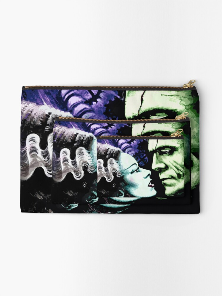 Alternate view of Bride & Frankie Monsters in Love Zipper Pouch