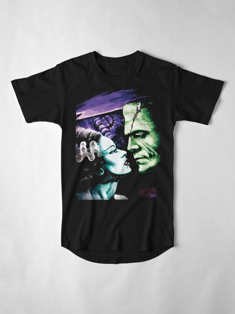Alternate view of Bride & Frankie Monsters in Love Long T-Shirt