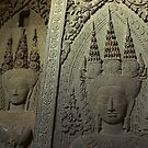 Temple Wall - Cambodia by Christophe Dur