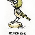 Silvereye Bobble-head  by SnakeArtist