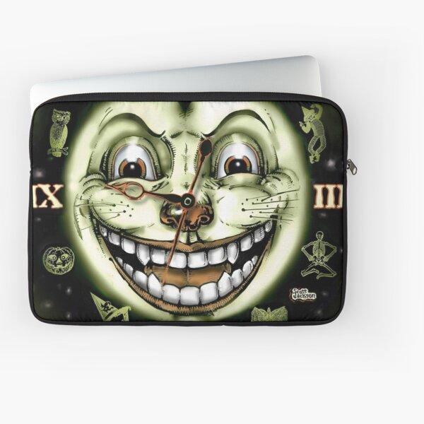 Black Cat 13 Halloween Clock Laptop Sleeve