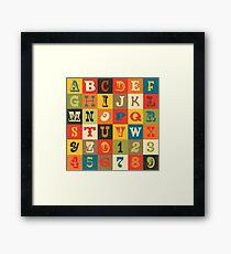 Vintage Alphabet Framed Print