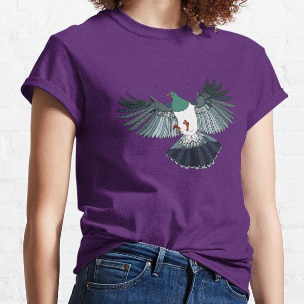 Kereru on retro stripe Classic T-Shirt