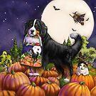 Halloween Bernese Mountain Dog by Patricia Reeder Eubank