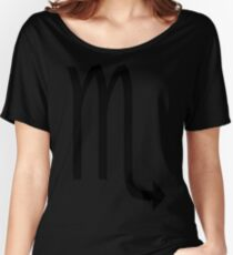 Scorpio Zodiac sign and horoscope symbol Women's Relaxed Fit T-Shirt