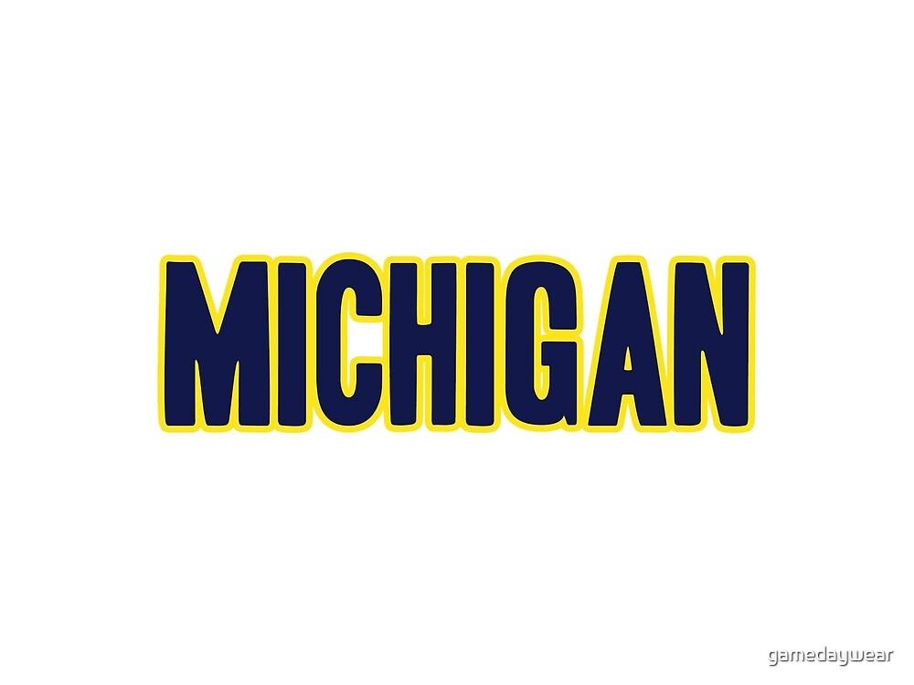 Michigan  by gamedaywear