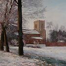 Church of the Holy Cross, Yelling, Cambridgeshire by Lynda Robinson