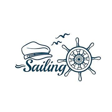 Sailing Badge With Handwheel by Chesnochok