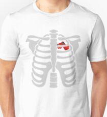 boxing In Heart Skeletons Halloween Funny  Unisex T-Shirt