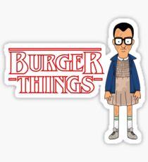 Burger Things Sticker