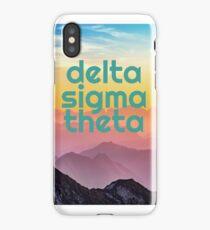delta sigma theta mountains iPhone Case/Skin