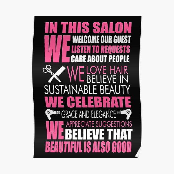 Hair Comb Poster Print Hair Care Gift Barber Shop Stylist Storefront Salon Owner